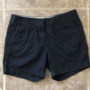J Crew Black shorts size 0 Chino Broken In